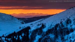 Alpes vues des Vosges