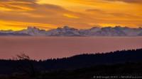 Vues des Alpes depuis les Vosges